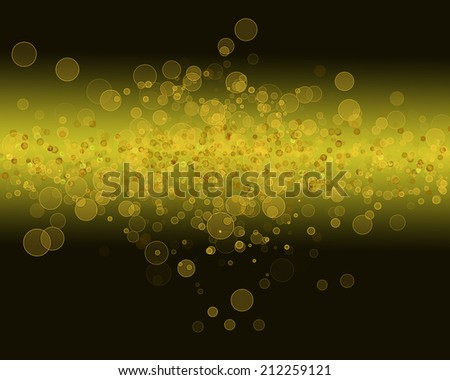 gold bokeh  background abstract - stock photo
