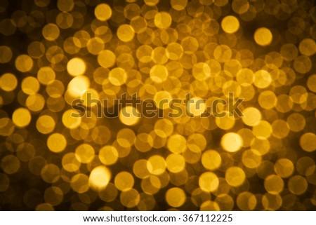 Gold bokeh background, bokeh background or Christmas background, bokeh Abstract background - stock photo