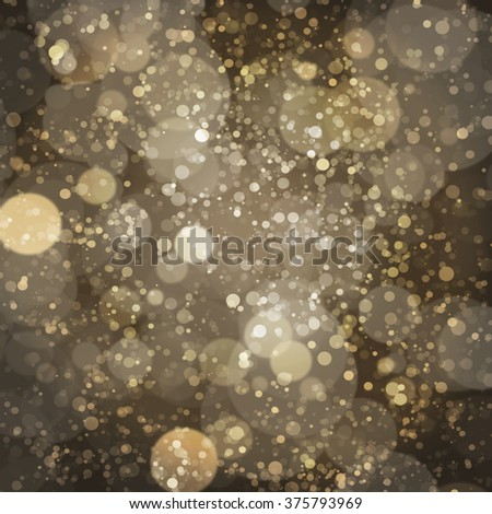 Gold Bokeh Lights with Sparkles - stock photo