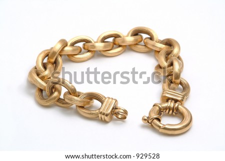 Gold bracelet - stock photo