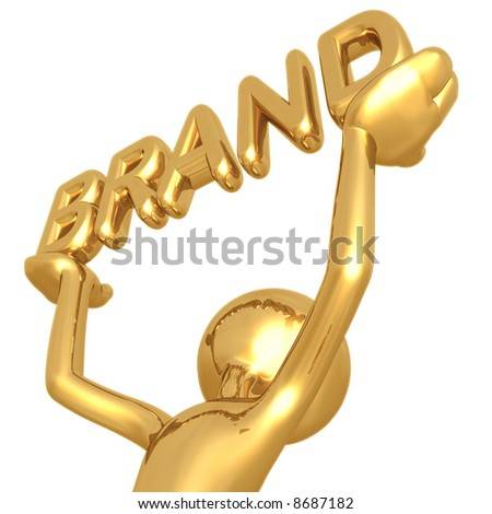 Gold Brand - stock photo