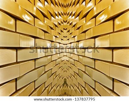 Gold bricks - stock photo