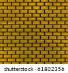 Gold bricks texture - stock photo