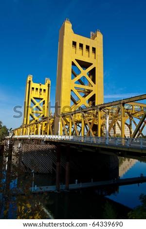 Gold Bridge - stock photo