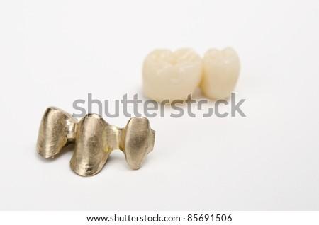 gold bridge, blank and finished - stock photo