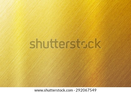 Gold brushed metal surface. sharp to the corners. - stock photo