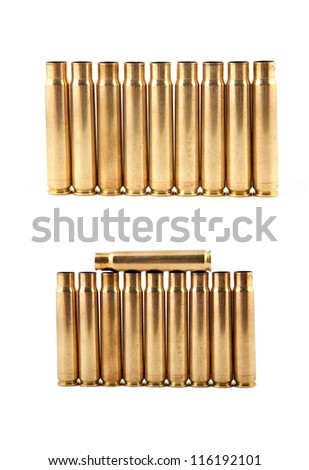 Gold bullet isolate on a white background - stock photo