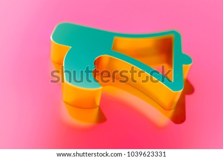 Gold bullhorn icon on candy style stock illustration 1039623331 gold bullhorn icon on candy style pink background with focus 3d illustration of bullhorn publicscrutiny Gallery