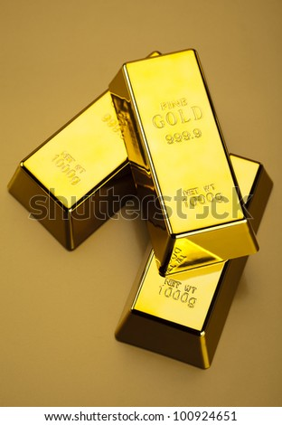 Gold bullions - stock photo