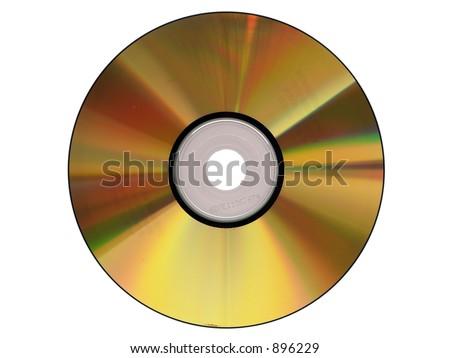 Gold cdrom - stock photo
