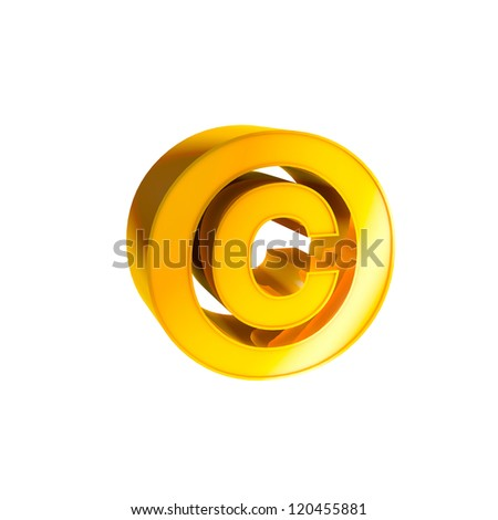 Gold Character Collection. Copyright. - stock photo