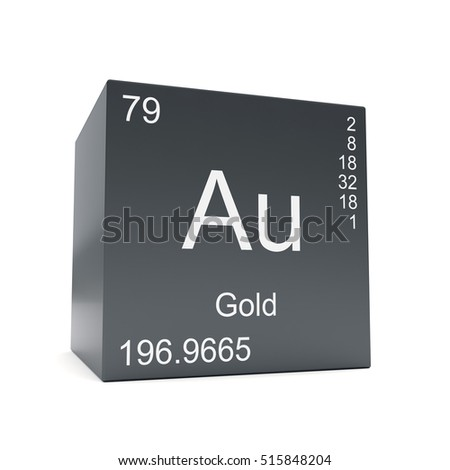 Gold Chemical Element Symbol Periodic Table Stock Illustration