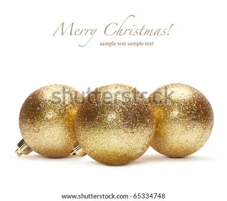 gold christmas ball - stock photo