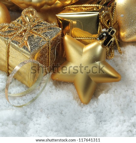 gold christmass decoration