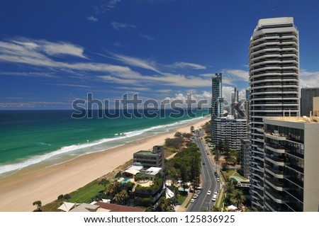 Gold Coast Australia - stock photo