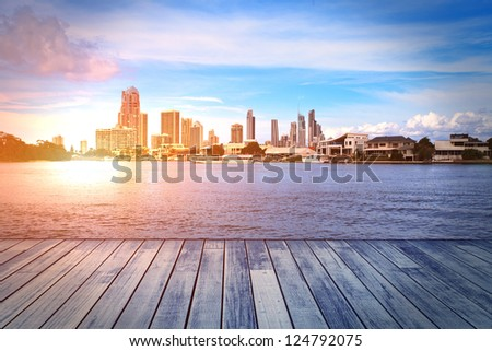 Gold Coast building - stock photo