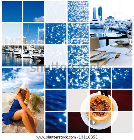 Gold Coast holiday lifestyle - stock photo