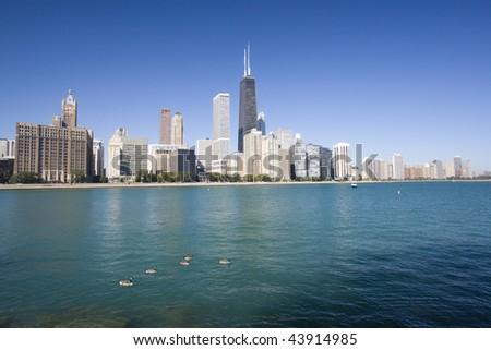 Gold Coast in Chicago, IL. - stock photo