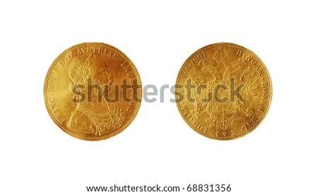 gold coin - stock photo