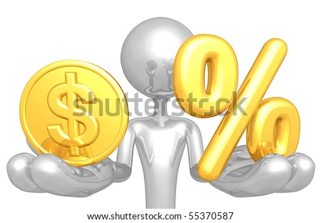 Gold Coin And Percentage Symbol