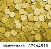 gold coins are as a background - stock photo