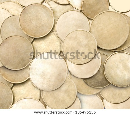 gold coins background - stock photo