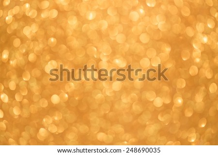 Gold color abstract bokeh texture