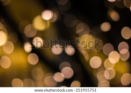 Gold color bokeh elegant abstract background with bokeh defocused lights - stock photo