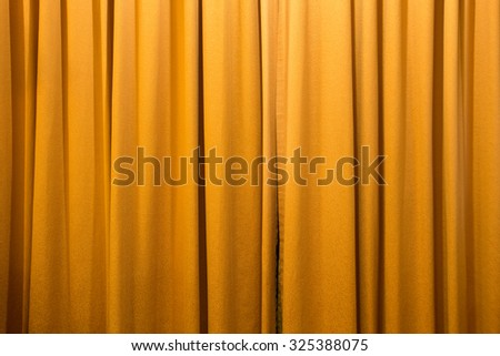 gold color curtain background texture - stock photo