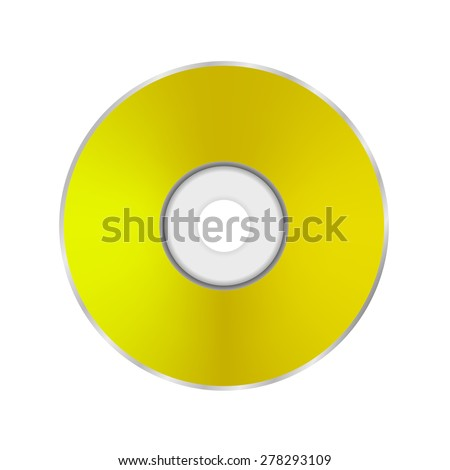 Gold Compact Disc Isolated on White Background  - stock photo