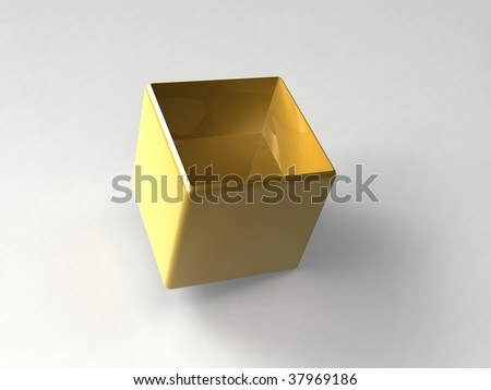 gold container - stock photo