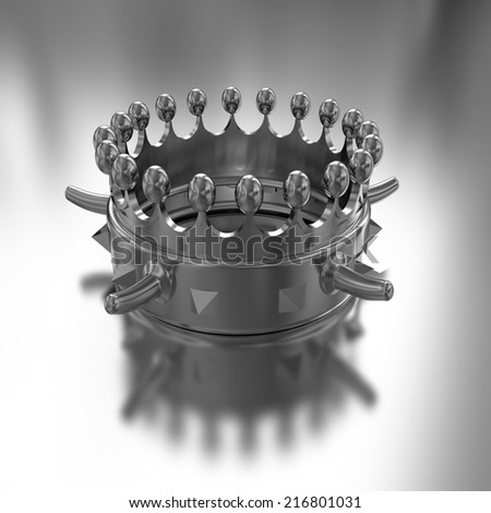 Gold crown isolated on gold background  - stock photo