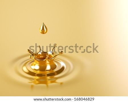 Gold Crown Splash - stock photo