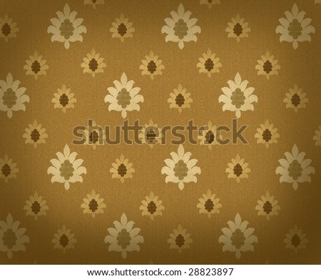 Gold crowns renaissance background - stock photo