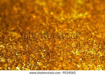 gold crystals - stock photo