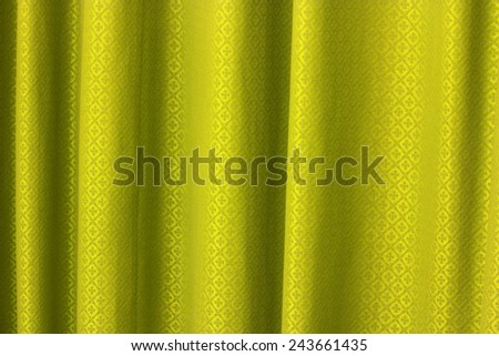 gold curtain texture background - stock photo