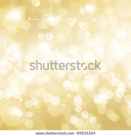 Gold defocused lights background - stock photo