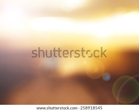 Gold desert in sunset,abstract bright blur background for web design, brown colorful background, blurred, wallpaper,flower - stock photo