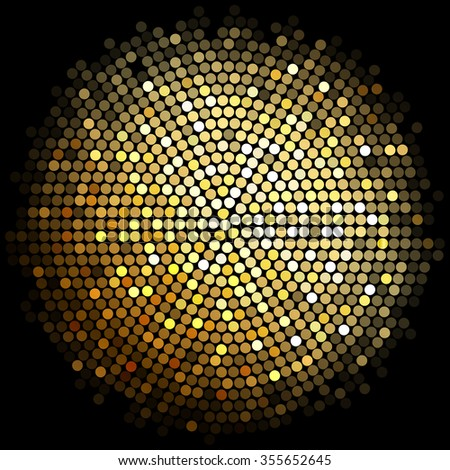 gold disco lights background - stock photo
