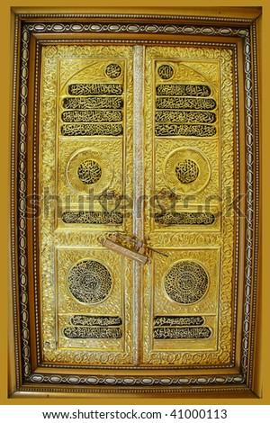 Gold door - stock photo