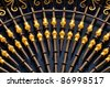 gold door pattern - stock photo
