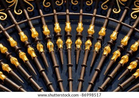 gold door pattern - stock photo