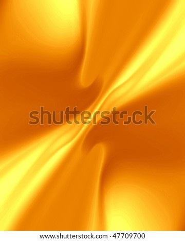 gold drapes with some smooth lines in it - stock photo