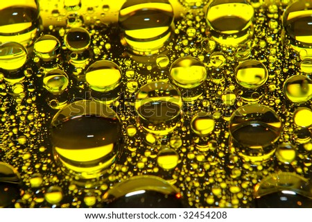 gold drops oil - stock photo