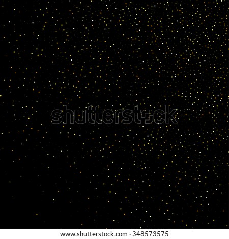 gold dust glitter star wave fireworks abstract black background, design template - stock photo