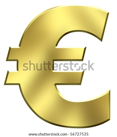 Gold euro symbol - stock photo