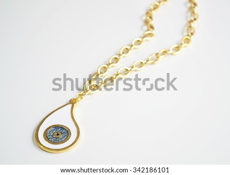 gold evil eye necklace with chain