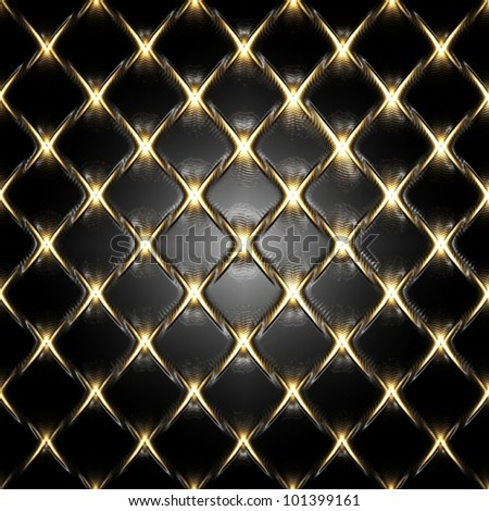 gold fence texture on plastic background - stock photo