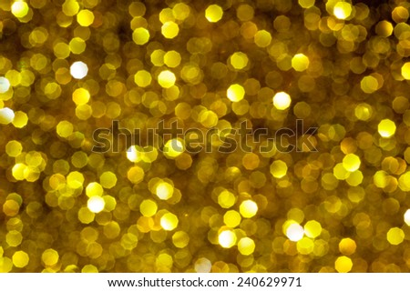 Gold Festive background. Elegant abstract background with bokeh defocused lights - stock photo