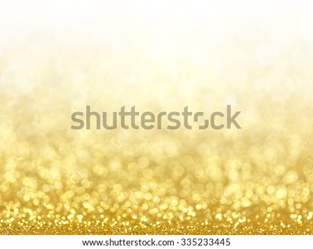 Gold Festive Christmas background. Abstract twinkled bright background with bokeh defocused golden lights - stock photo